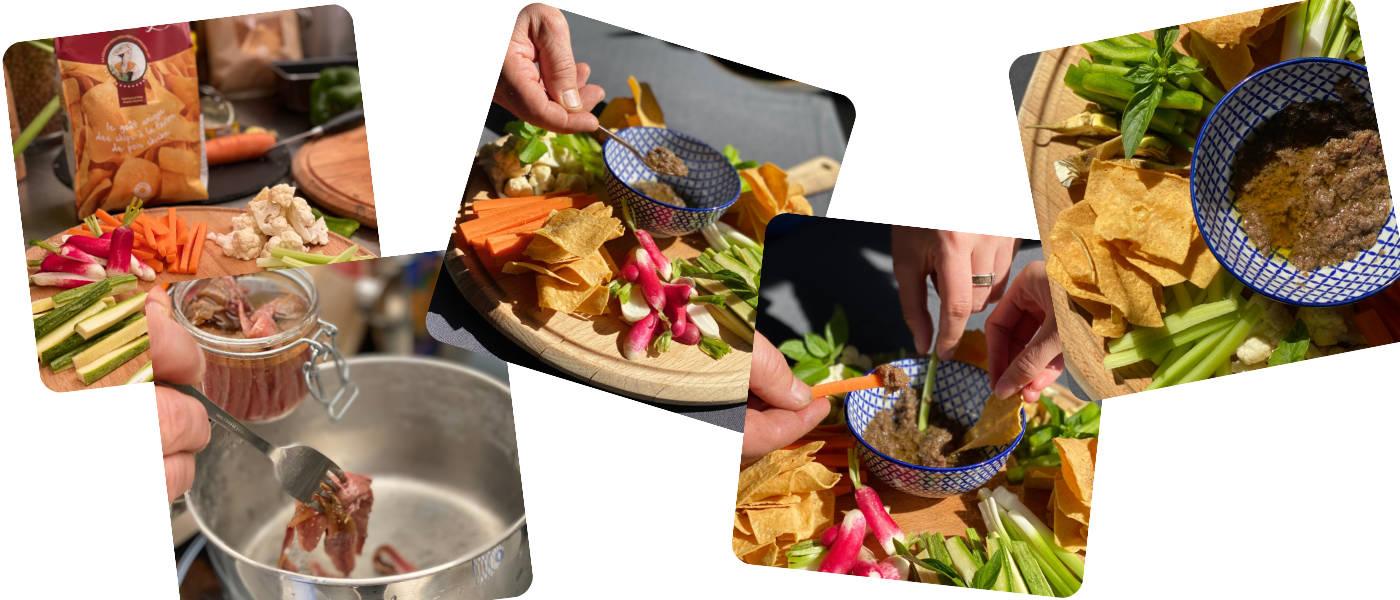 recette bagna cauda luc salsedo socca chips